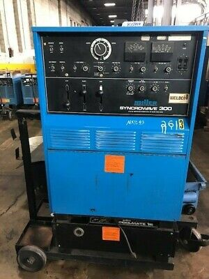 Miller 300 Amp Syncrowave 300 Acdc Tig Stick Welder Power Source Mounted Tank