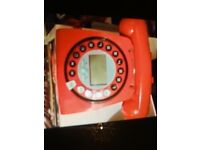 Red house phone working great