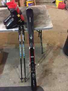 Skis (120's) , Boots, Bindings & Poles
