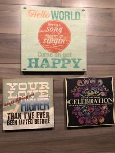 Music Lyrics Wood Signs - Brand New