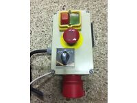 Myford forward Reverse Stop Start Switch Wired up for 3 phase but