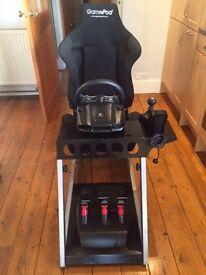 Logitech G27 Steering Wheel & 'Gamepod' GT2 racing chair
