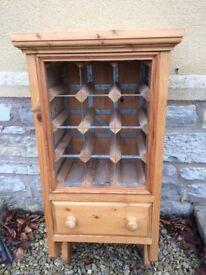 Solid wooden pine wine rack