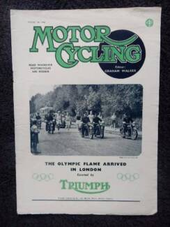 Motor Cycling Aug 28, '48; Triumph, G.P. D'Europe, Six Day Trial