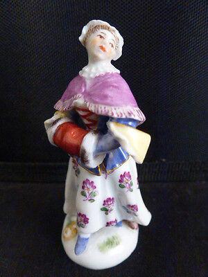 18thC Meissen Porcelain Miniature Lady Figurine Figure Porzellan Miniatur Figur