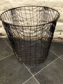 Vintage wire metal basket
