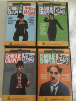 Charlie Chaplin VHS tapes The Early Years Volumes  1-4 Winthrop Melville Area Preview
