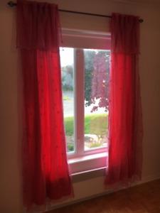 2 panneaux de rideaux pour chambre fille