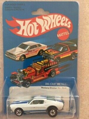 NEW HOT WHEELS 1982 MAINLINE SERIES MUSTANG STOCKER IN BLISTER PACK/PROTECTOR