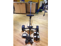 Hill Billy electric golf trolley with 2 batteries and a charger