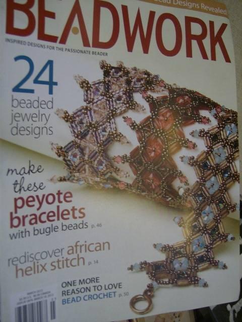 Beadwork Magazine March 2013 -24 Designs-Peyote Bracelets/African Helix Stitch/B
