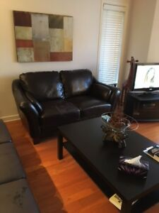 set de salon a donner - divan, causeuse, fauteuil, pouf