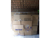 30+ Packing/moving boxes, medium and large: Free