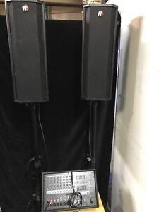 Kit de son* 2x Speaker Wharfadale Pro Programme 600 + Mixer Yamaha EMX212s + Micro + Accesoire* USAGÉ* Meilleur Prix*