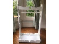 Great Little Trading Co Sweetheart Clothes Rail, White. Perfect Build a Bear wardrobe