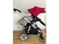 I candy apple 2 pair pushchair including new born nest