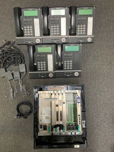 Panasonic KX-TDA100 Phone System with 5 KX-NT136 Phones