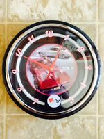 "Corvette Stingray 12"" Neon Light Up Wall Clock - BRAND NEW!!"