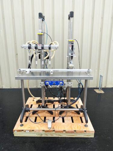Inline Filling Systems Semi-Automatic 4 Head Inline Bottle Filler & Screw Capper