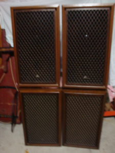4  EXCELLENT SANSUI SPEAKERS MADE IN JAPAN