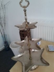 Vintage 3 tier star shaped cake stand