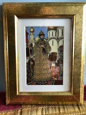 Russian Bilibin Ceramic Picture- Tsar
