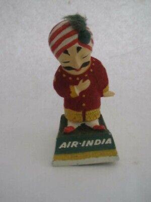 "Air India Mascot Maharaja Figure Vintage Small 4"" High Advertising Airline Rare!"
