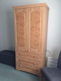 Gentleman's Wardrobe by Alstons - Very Stylish Practical Wardrobe with 3 Drawers - Delivery Possible