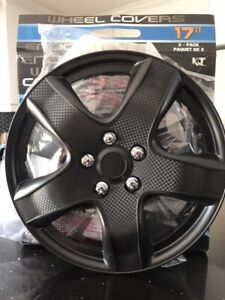 NEW MATTE BLACK WHEEL COVERS (4) 17""