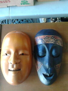 Wooden Hand Carved West Coast Native Masks London Ontario image 2
