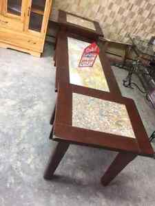 LARGE SELECTION OF 3 PIECE COFFEE AND END TABLES SETS IN STOCK