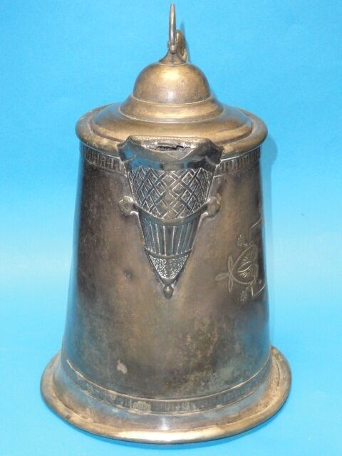 ANTIQUE ORNATE MERIDEN SILVER PLATE CO. ICE WATER PITCHER c. 1880