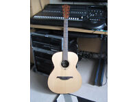 Lag Acoustic guitar, very clean sound flame neck