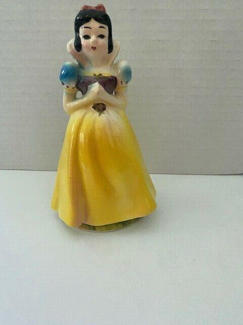 "Vintage Walt Disney Japan Princess Snow White Porcelain Figurine 4-½"" 1960 MINT!"