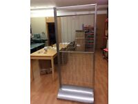 Tall Wire frame Shop display unit with adjustable hook. Used Good condition
