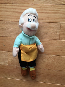 "DISNEY PINNOCHIO GEPPETTO 8"" BEANBAG PLUSH"