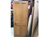 Lovely pine wooden door, circa early 1900's, with original handle