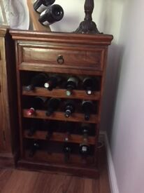Sheesham wine rack