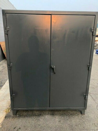 """Stronghold 60"""" x 24"""" x 78"""" storage cabinet heavy steel door shelf strong hold"""