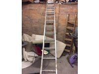Extending 7.18 meter ladder