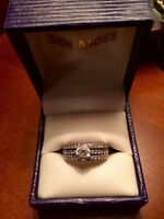 10kt White Gold Diamond Ring set (3 rings)