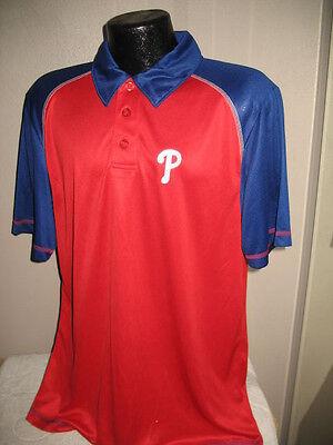 MLB Philadelphia Phillies Baseball Coach's Golf Polo Shirt Mens Nwt -
