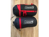 2 x Coleman sleeping bag - Very Good Condition