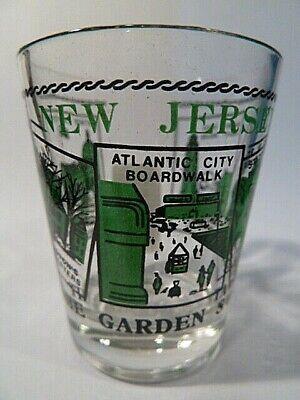 NEW JERSEY SCENERY GREEN CLASSIC DESIGN SHOT GLASS (Greens Design Collectible Shot Glass)
