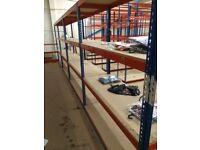 JOB LOT 5 bays Rapid 1 industrial long span shelving ( pallet racking , storage )