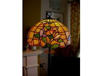 Two Tiffany style lamps, Two Tiffany style Ceiling Lights all matching