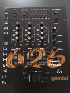 Gemini PS-626 Pro Mixer 3 channel