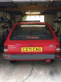 FORD FIESTA MARK 2. COLOUR ROSSO RED (1985)