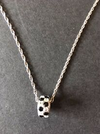 Silver chain and charm pendant necklace