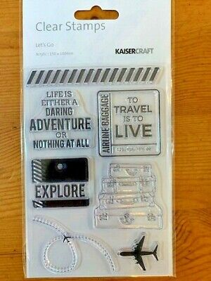Kaisercraft Let's Go Clear Stamp Set - 155mm x 105mm, 7 stamps, CS341